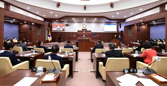 김천시의회, 제217회 임시회 개회