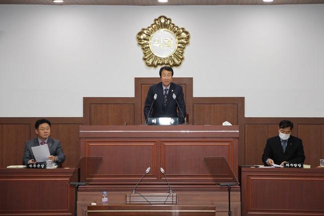 김천시의회 2021년도 주요업무 보고 청취