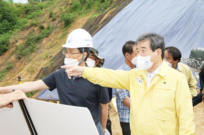 김충섭 시장, 수해대비 농업기반시설 현장점검